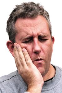 Man with Dental Emergency